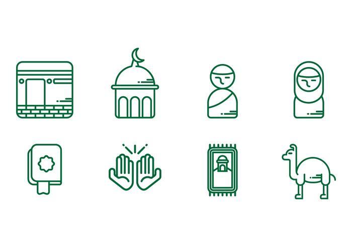 Icônes de Makkah vecteur