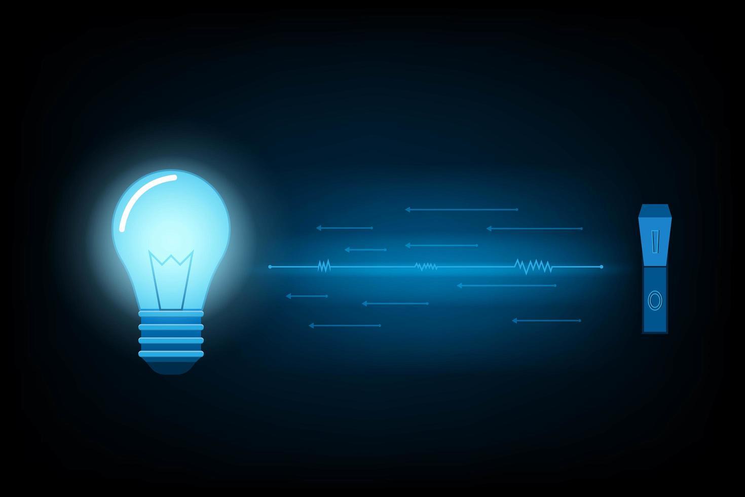 fond abstrait ampoule futuriste vecteur