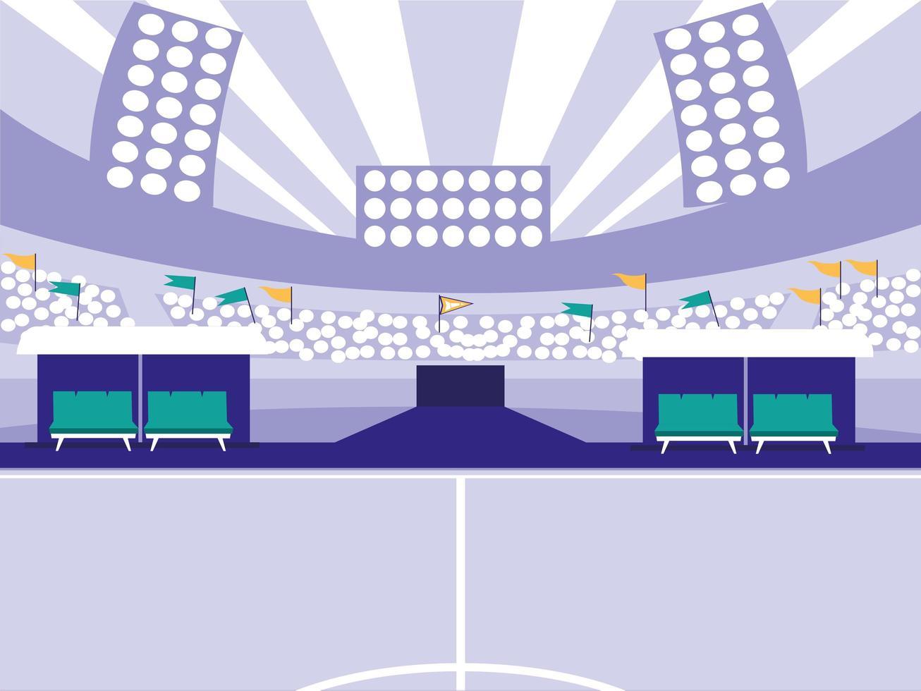 scène de stade de football de football vecteur