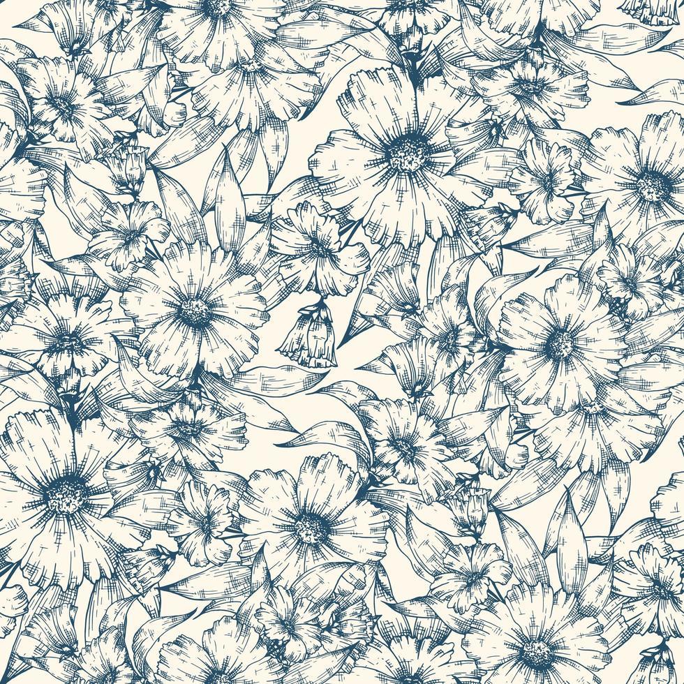 fond transparent fleurs bleues vecteur