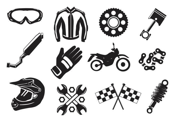 Dirt Bike Gear vecteur