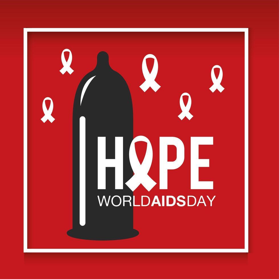 bannière de prévention de la journée mondiale du sida vecteur