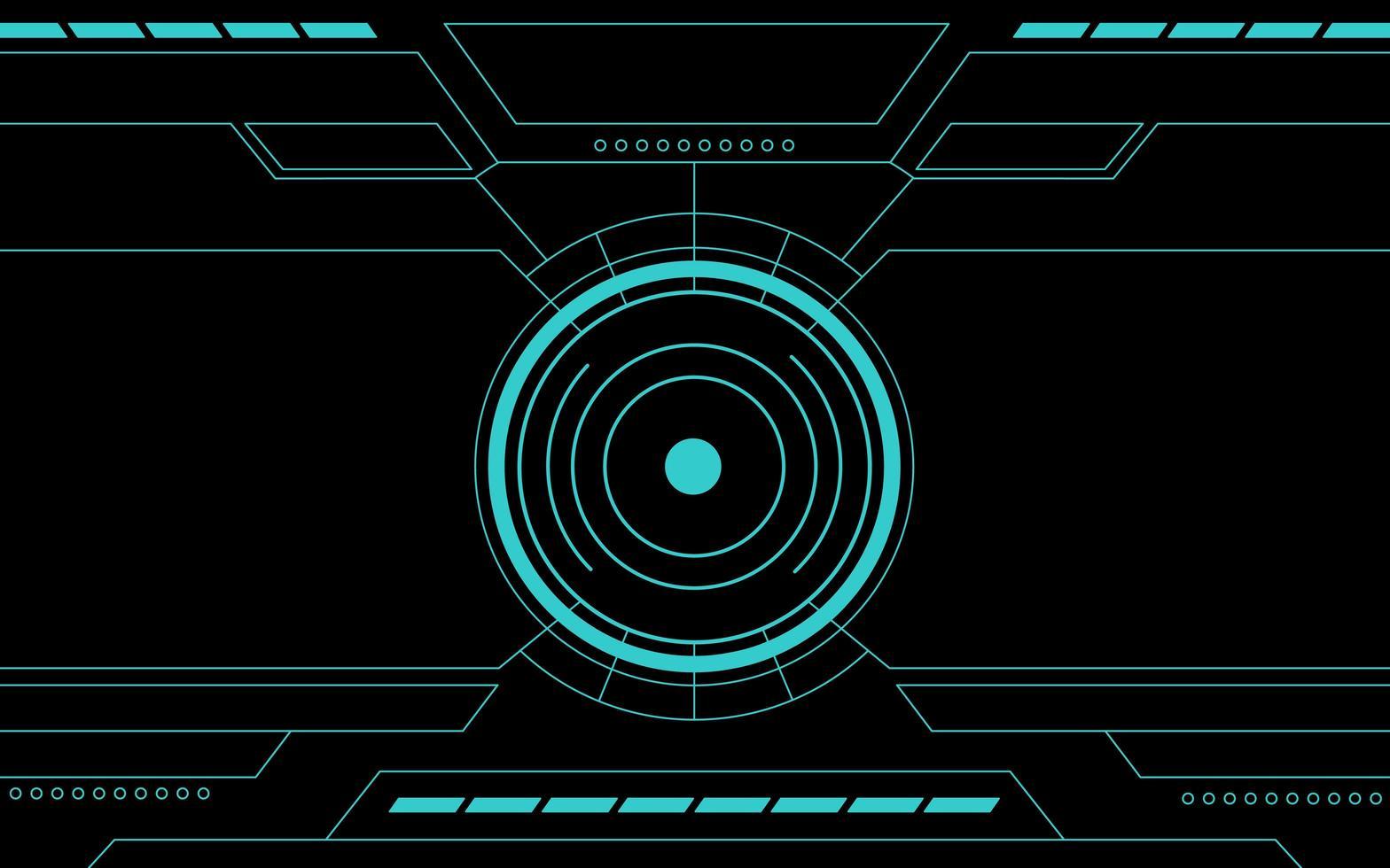 panneau de commande bleu interface de technologie abstraite hud vecteur