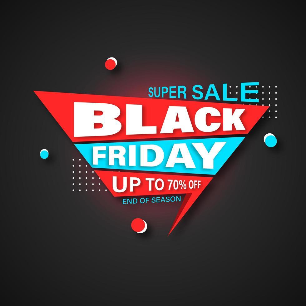 bannière de vendredi noir avec forme géométrique vecteur
