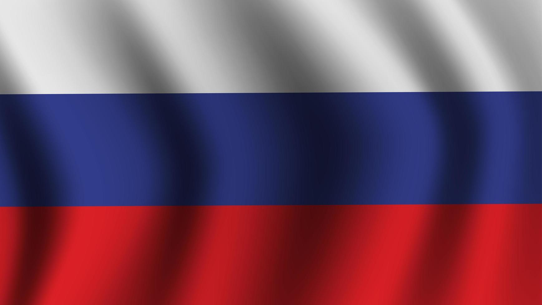 drapeau russe ondulant réaliste vecteur