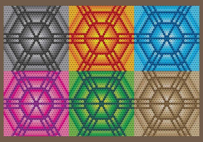 Modèles hexagonaux huichol vecteur