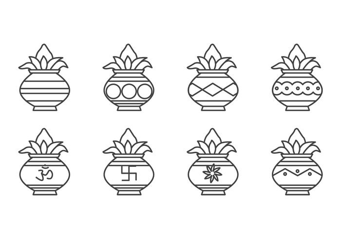 Vector d'icônes Kalash gratuit