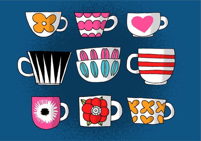 Vecteurs de tasses à café vecteur