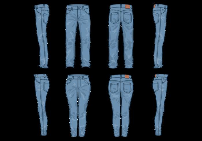 Vecteur blue jeans