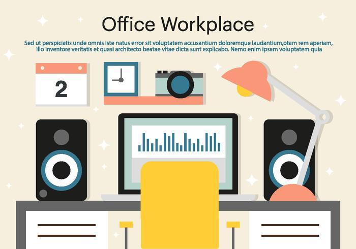 Fond d'écran de Free Office Workplace Vector
