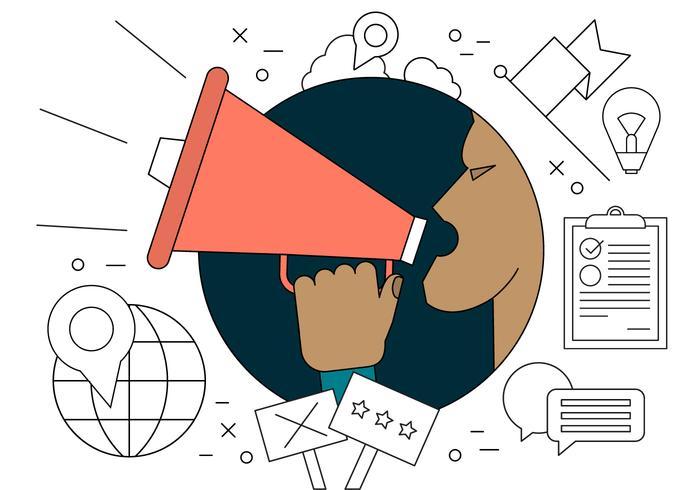 Illustration vectorielle de protestation vecteur
