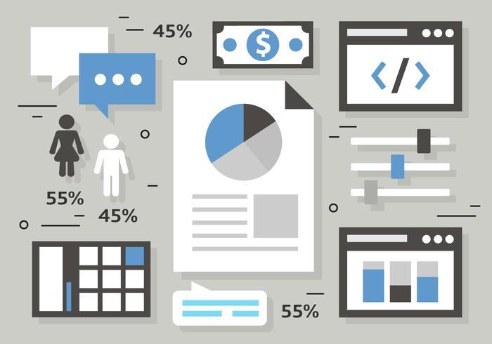 Illustration vectorielle de marketing numérique gratuite vecteur