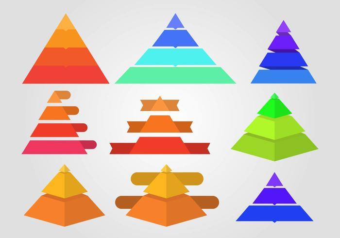 Vector d'infographie Piramide gratuit