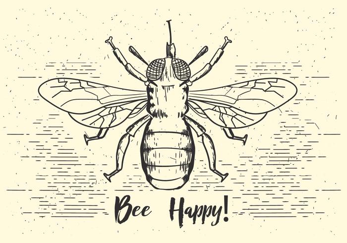 Illustration d'abeille Vector Free