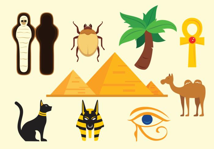 Piramide icônes vecteur d'Egypte