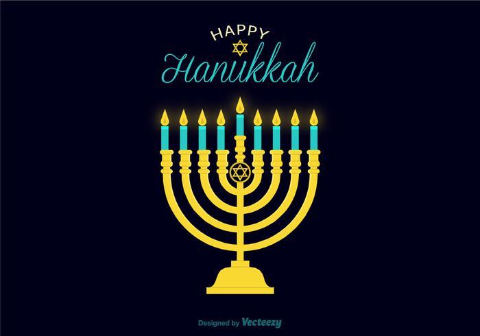 Illustration de la bougie du vecteur hanukkah