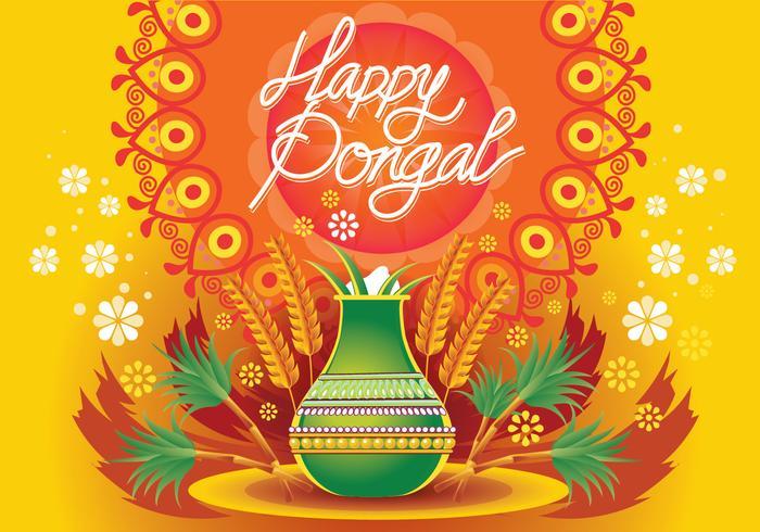 Illustration Vecteur De Happy Pongal Celebration Background