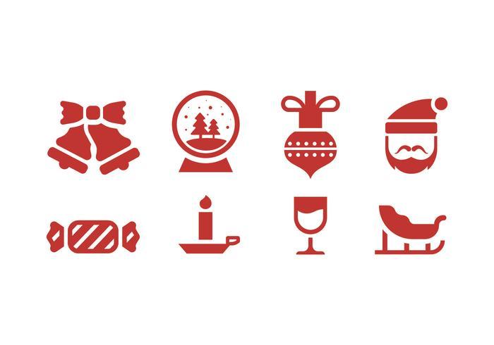 Icônes de Noël et d'hiver vecteur