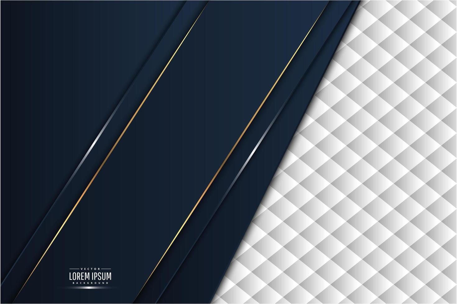 métal bleu et or avec un design moderne de rembourrage blanc. vecteur