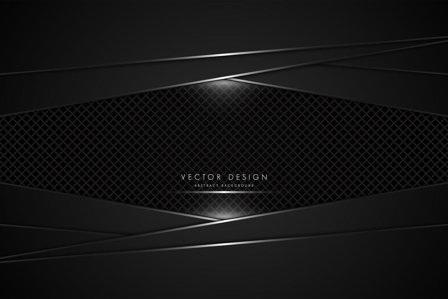panneaux métalliques noirs avec fibre de carbone vecteur