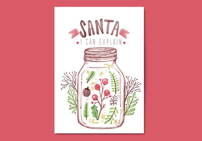 Carte de Noël gratuite vecteur