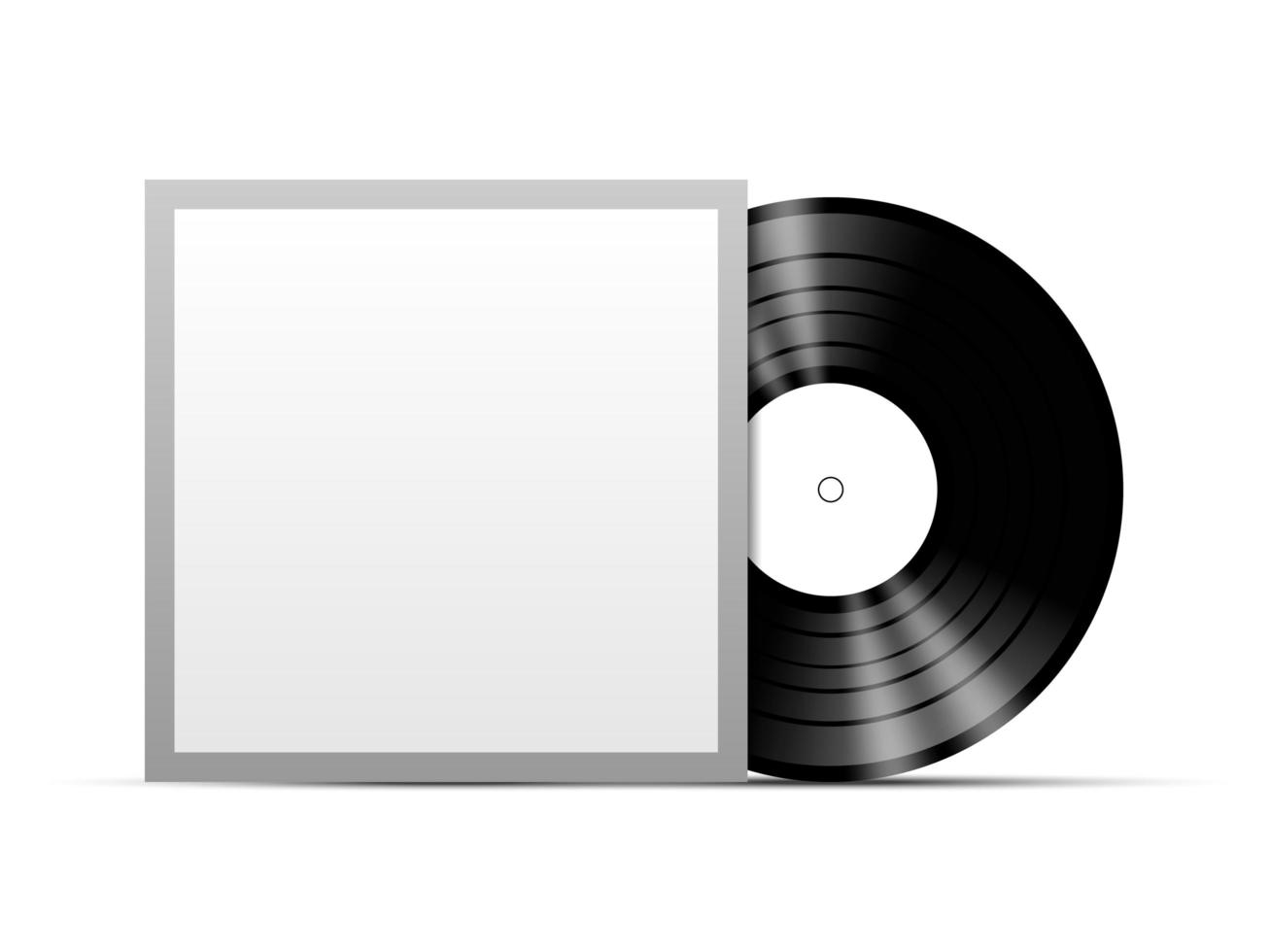 disque vinyle avec couverture vierge vecteur