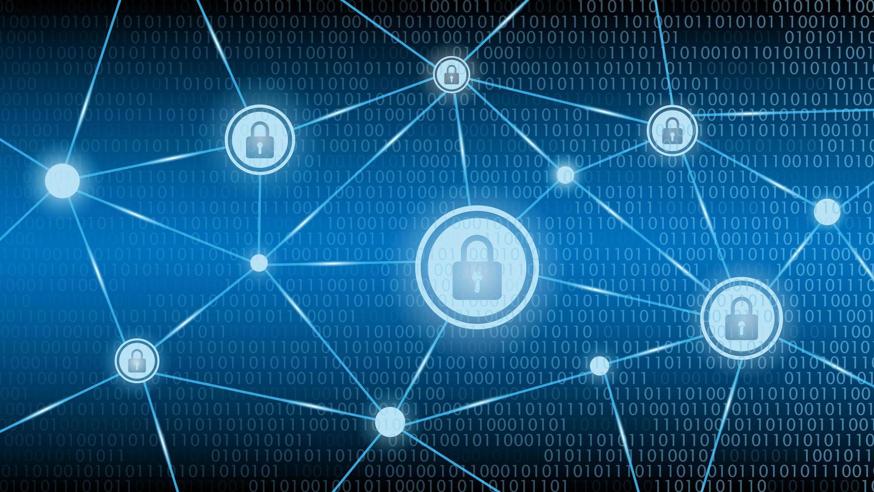 fond bleu de sécurité cyber technologie vecteur