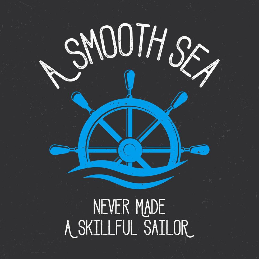 conception de t-shirt marin lisse vecteur