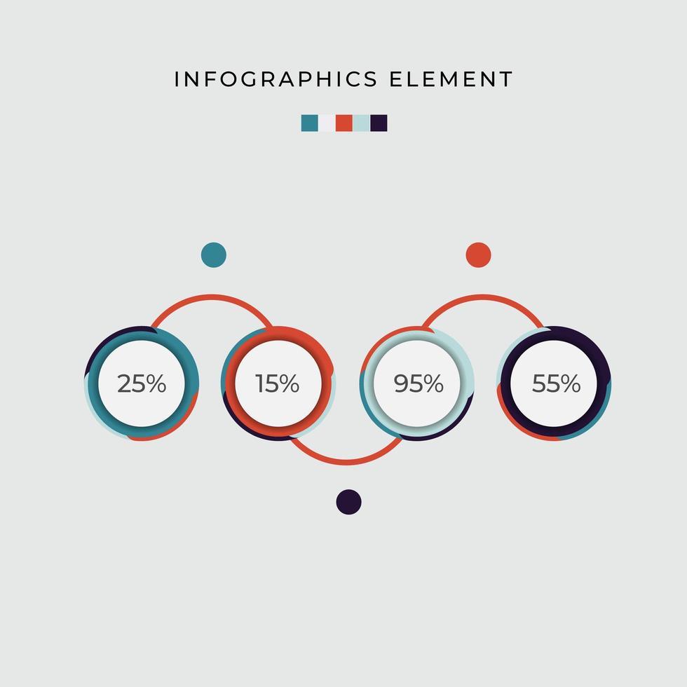 diagramme de cercle de pourcentage infographique vecteur