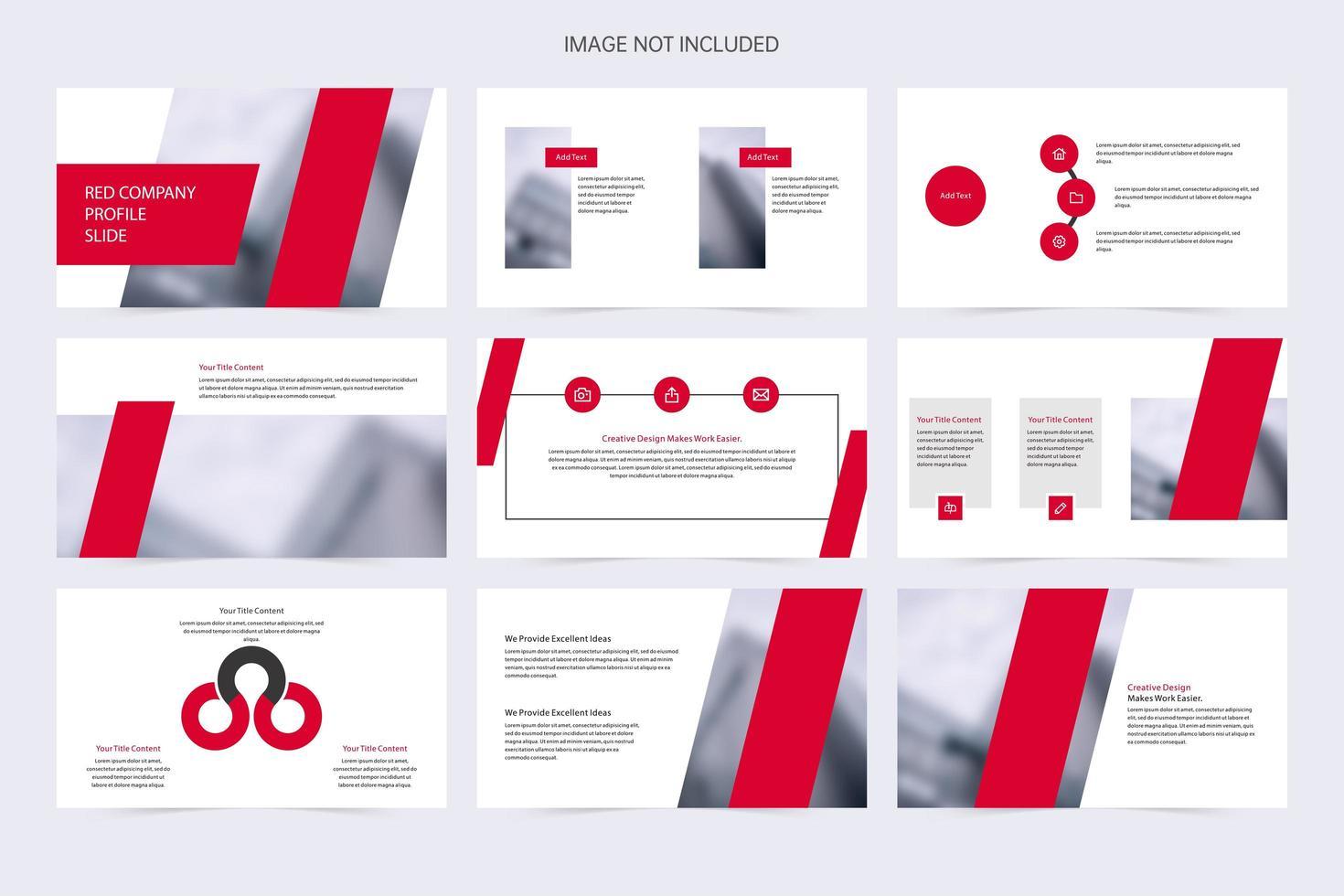 modèle de présentation moderne rouge et blanc pour les entreprises vecteur