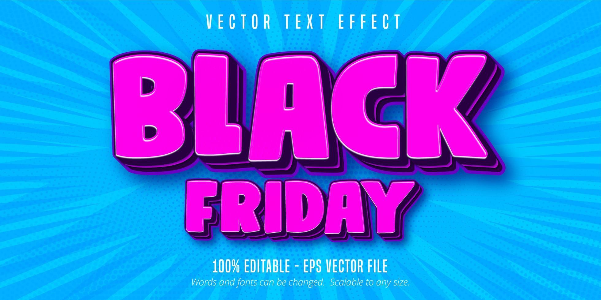 effet de texte modifiable vendredi noir vecteur