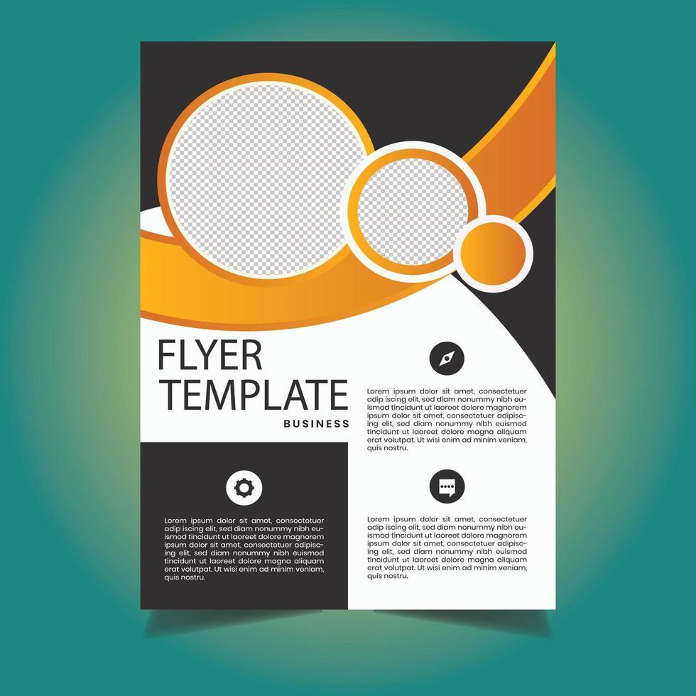 modèle de flyer commercial look créatif vecteur
