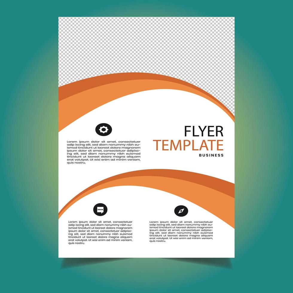 modèle de flyer entreprise forme orange vecteur