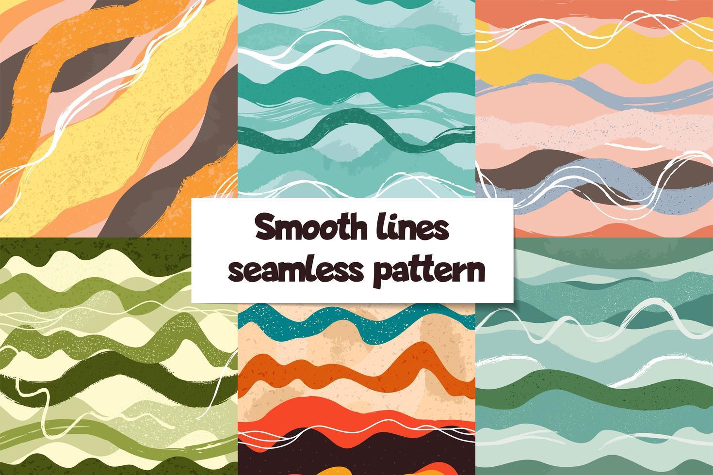 ensemble de motifs de courbes abstraites dessinés à la main vecteur