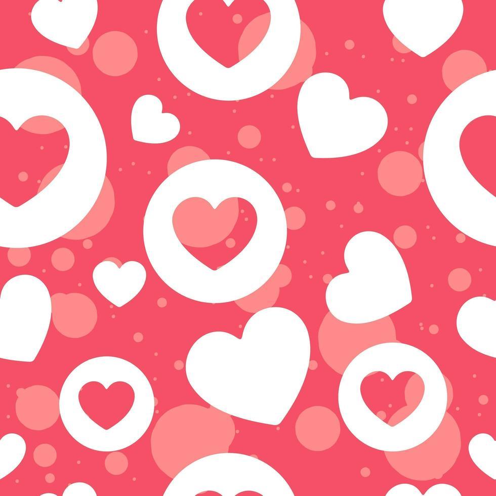 motif répétitif de la Saint-Valentin pour le mois de l'amour vecteur