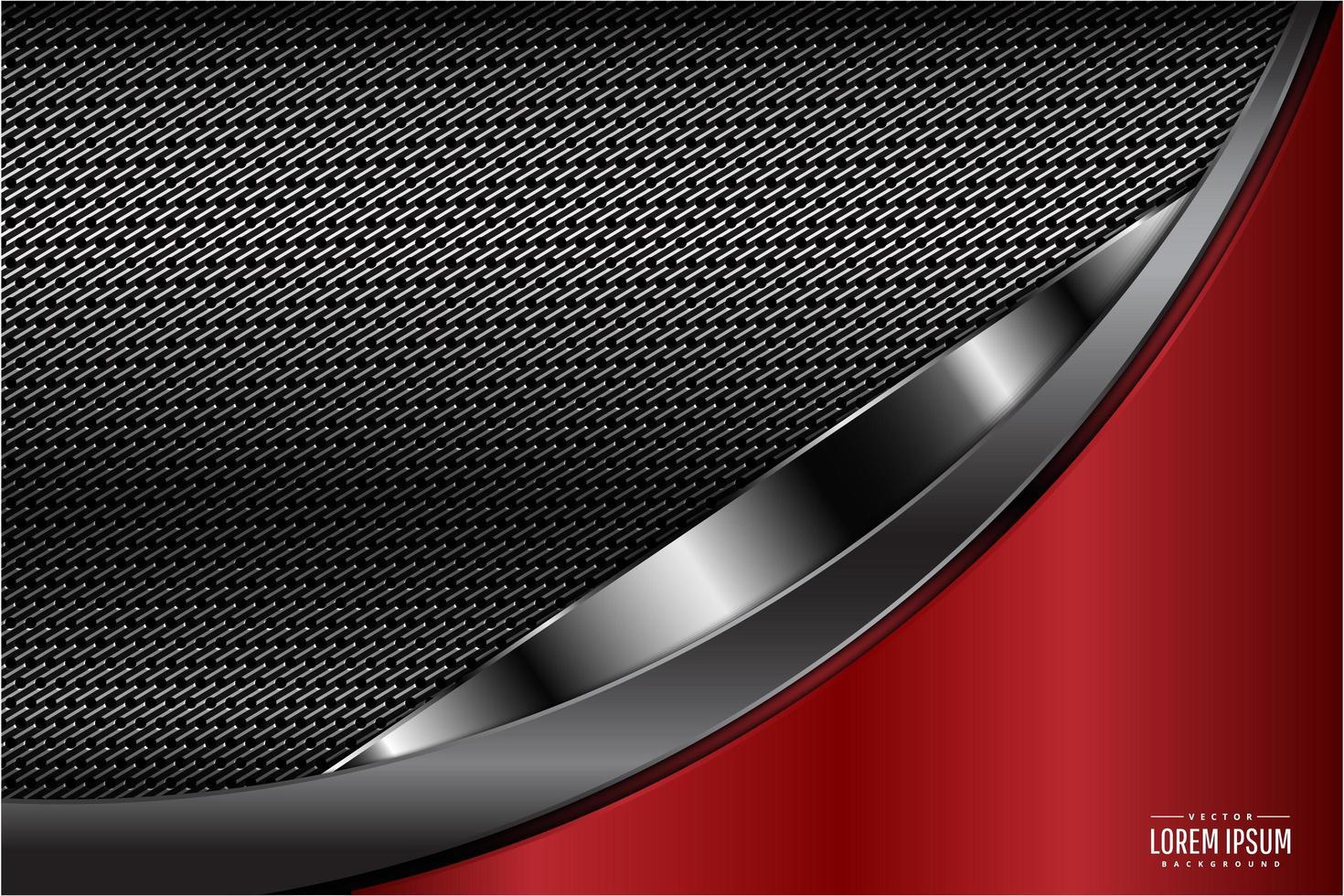 fond de conception courbe technologie rouge vecteur