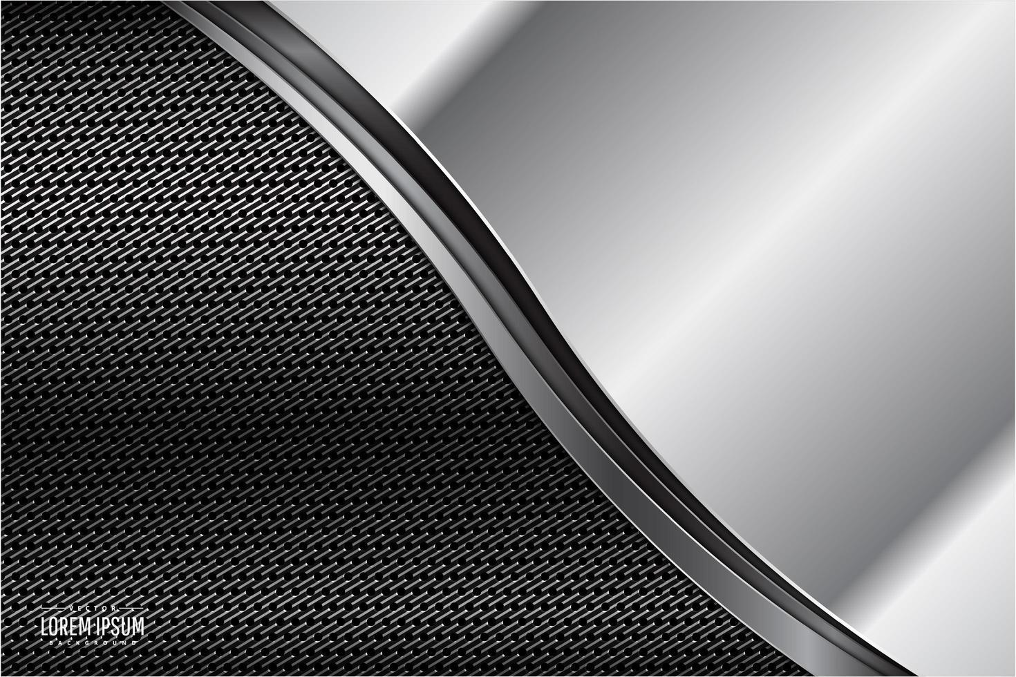 fond métallique gris avec un espace sombre vecteur