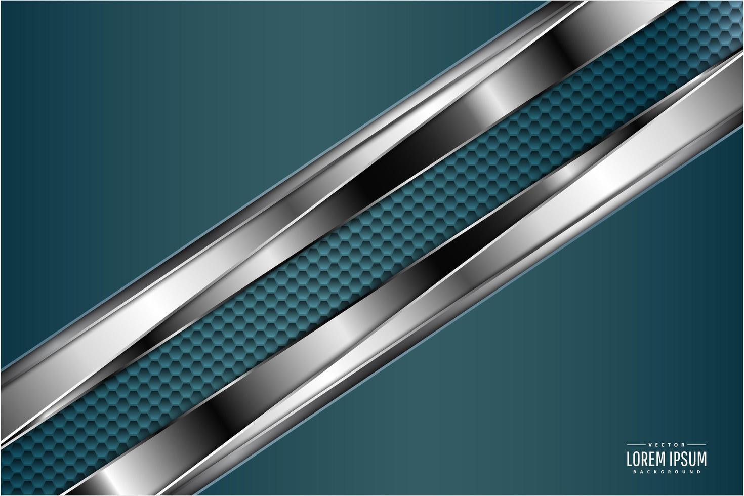 texture de fibre de carbone vert et argent de luxe vecteur