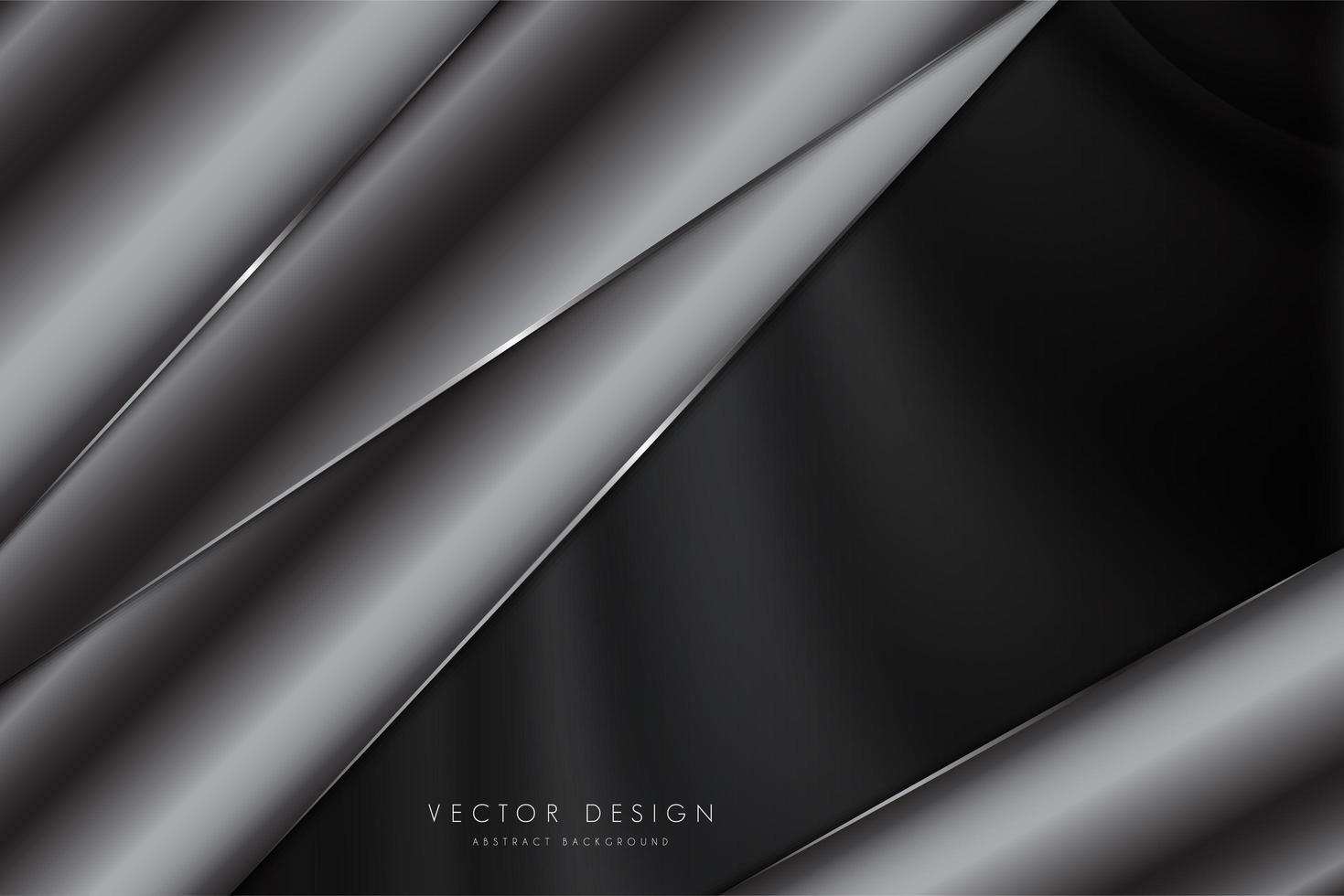 élégant fond gris foncé vecteur