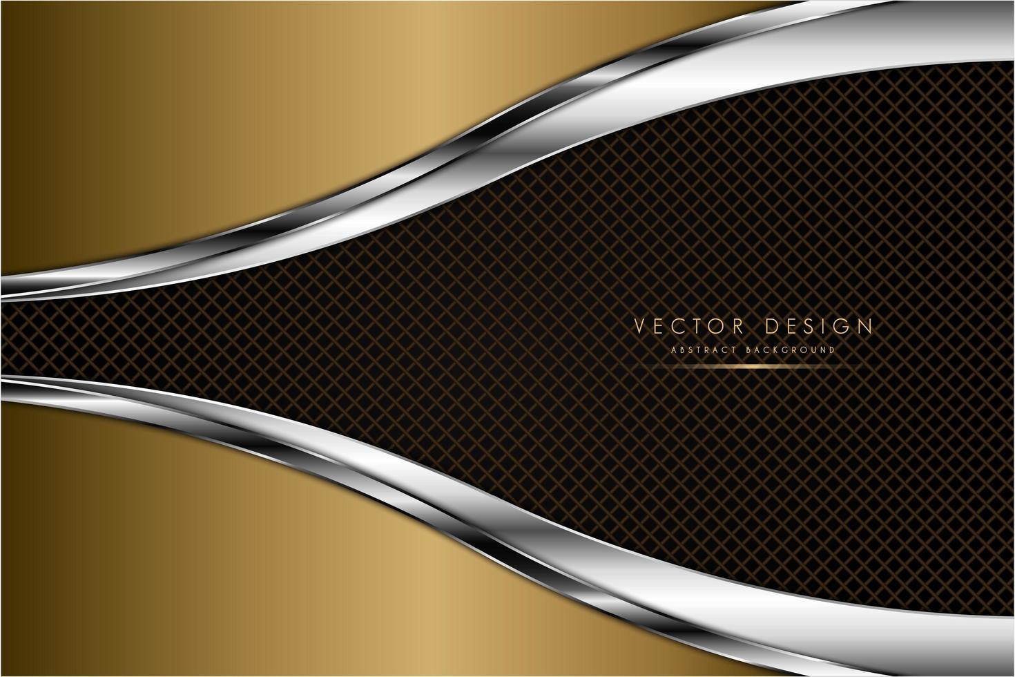 texture or et argent de luxe avec fibre de carbone vecteur