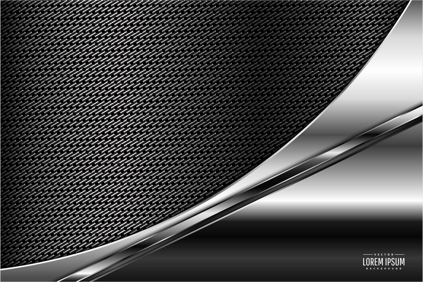 fond de conception incurvée métallique gris vecteur