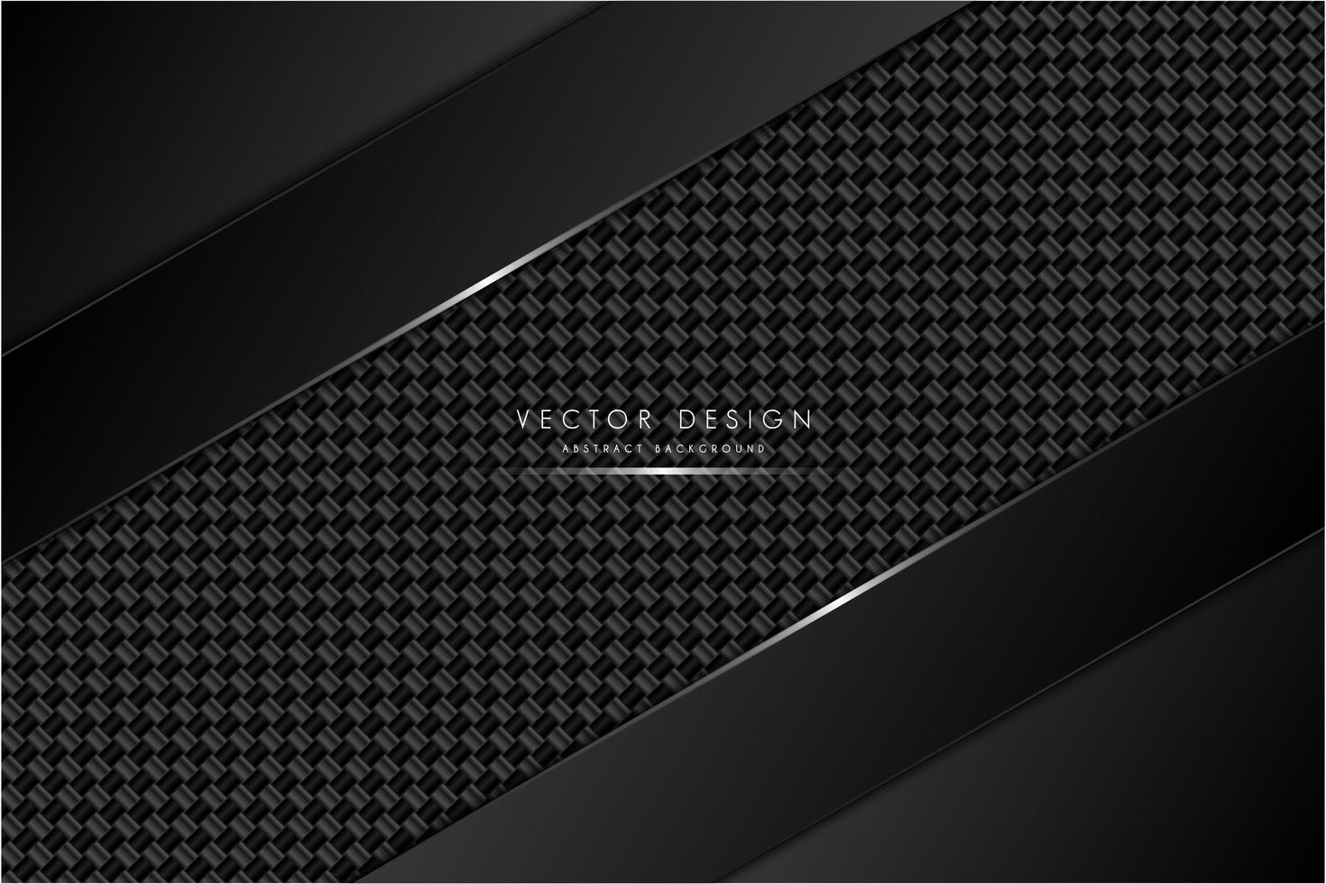 fond métallique noir et gris avec fibre de carbone vecteur