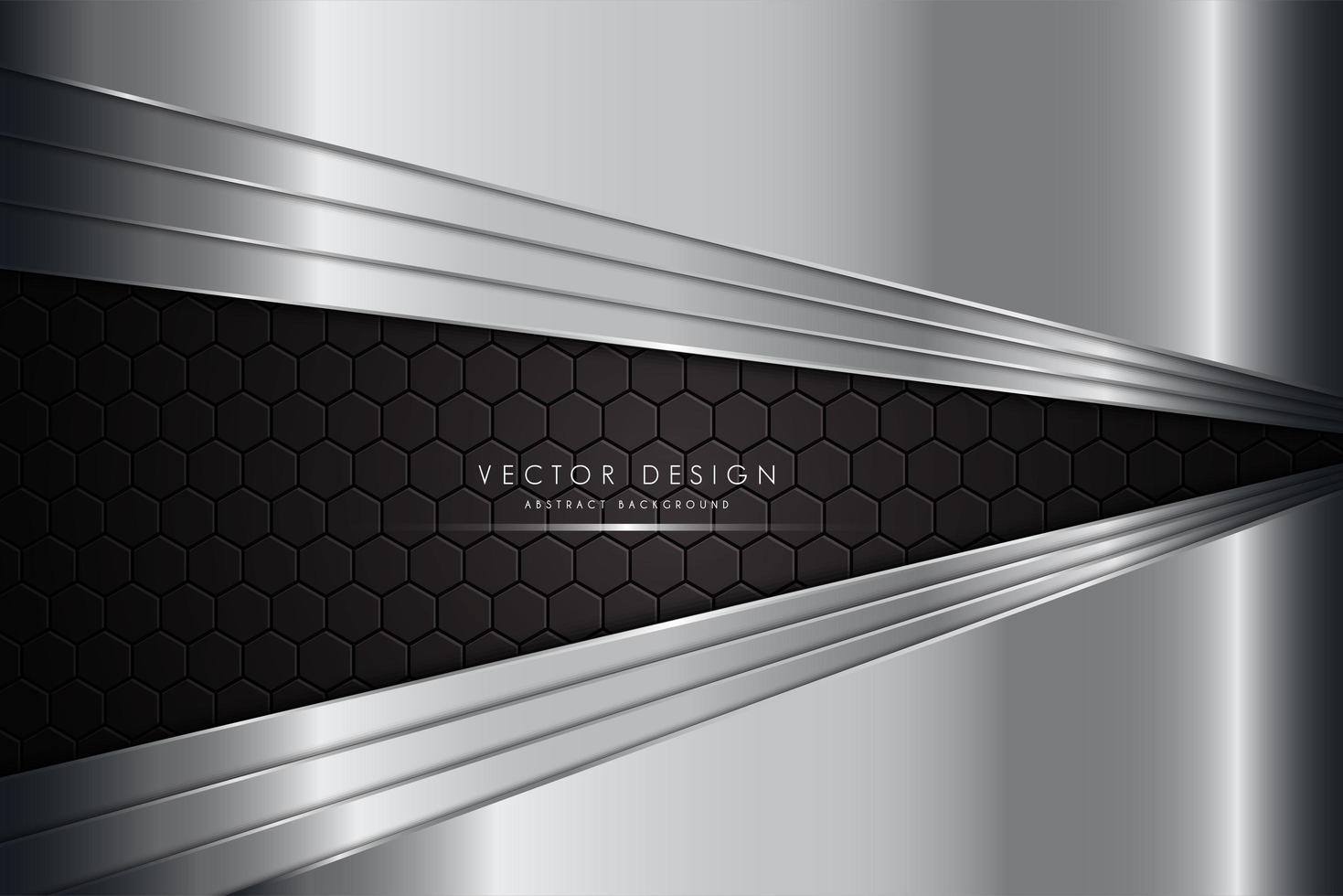 fond métallique argenté avec fibre de carbone vecteur