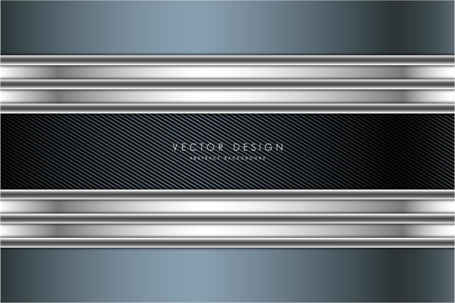 fond métallique bleu et argent avec fibre de carbone vecteur