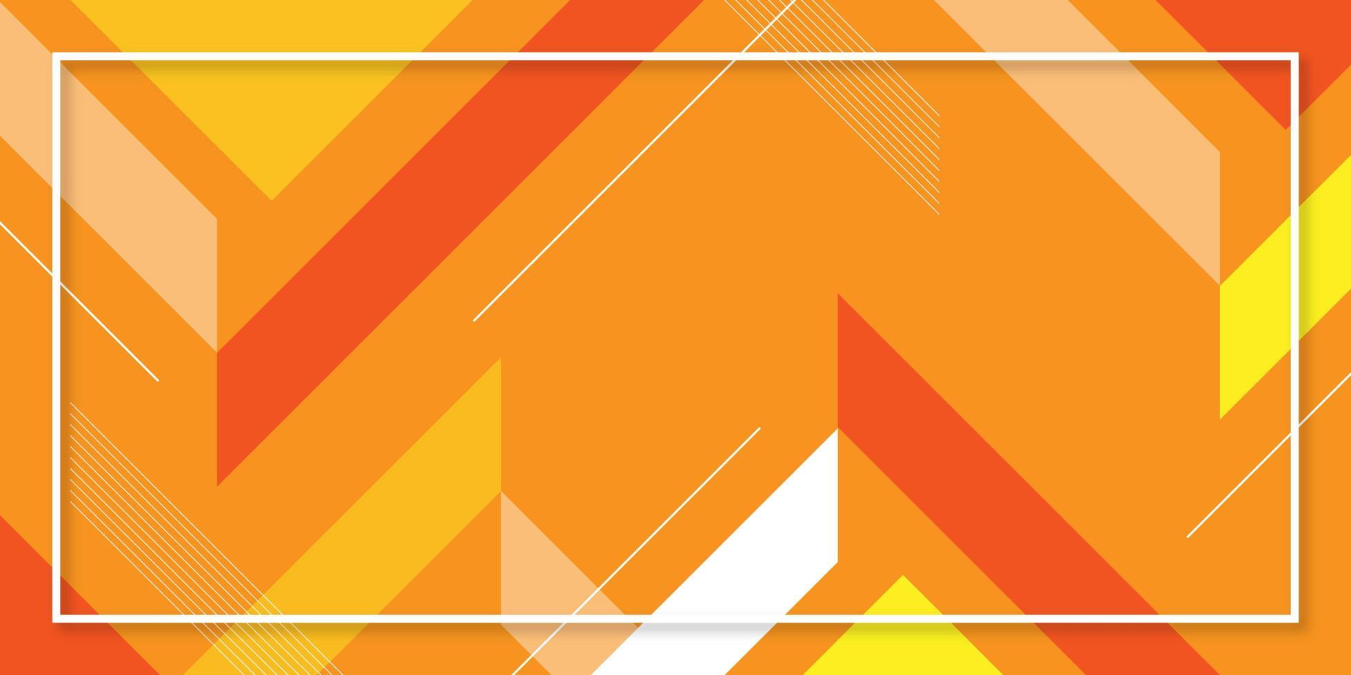 fond géométrique abstrait lumineux orange vecteur