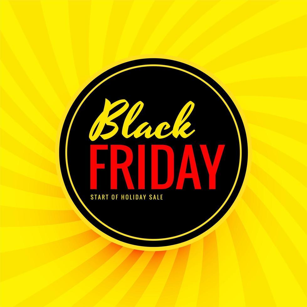 bannière de vente ronde vendredi noir vecteur