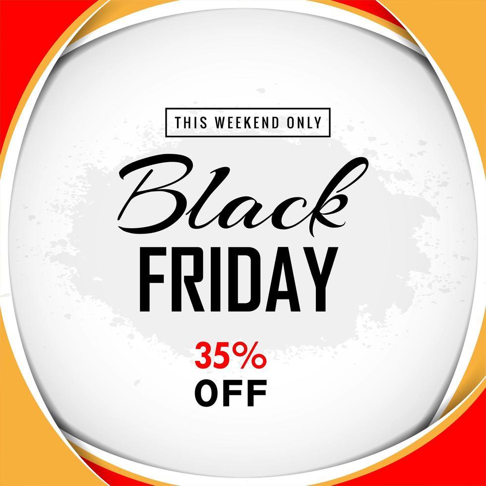 conception de vente de cadre 3d vendredi noir vecteur