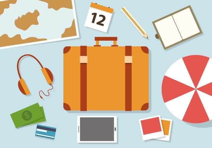 Illustration vectorielle de voyage gratuite vecteur