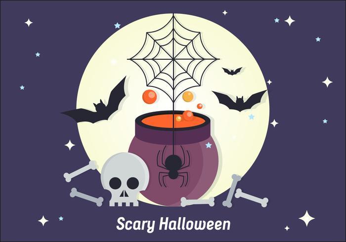 Illustration Scary Halloween Vector