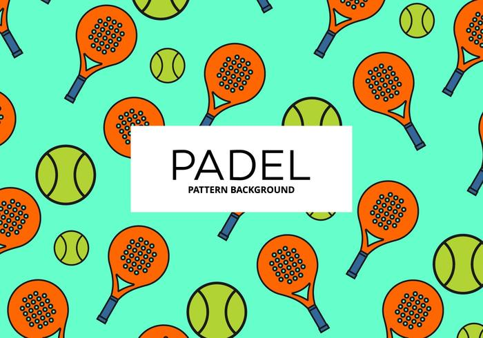 Contexte de Padel vecteur